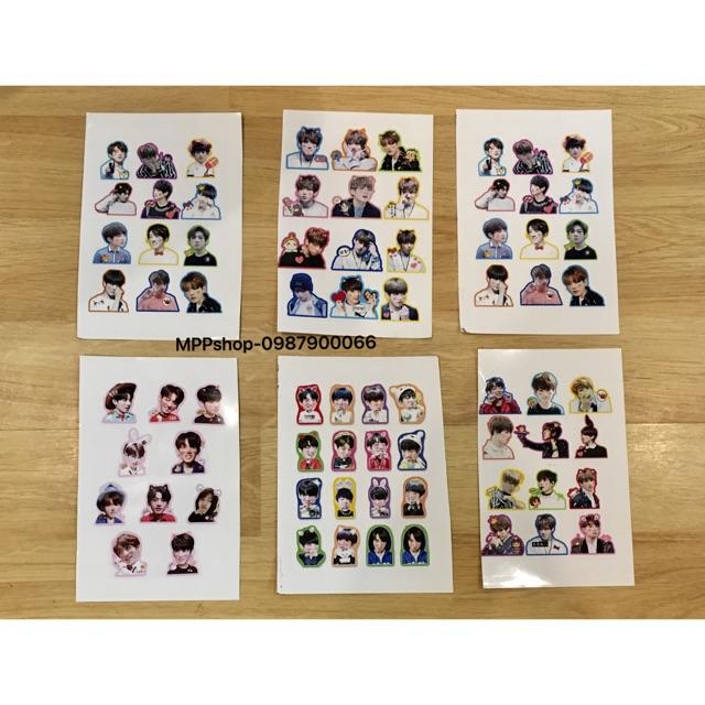 Combo 5 bảng Sticker BTS - JUNGKOOK