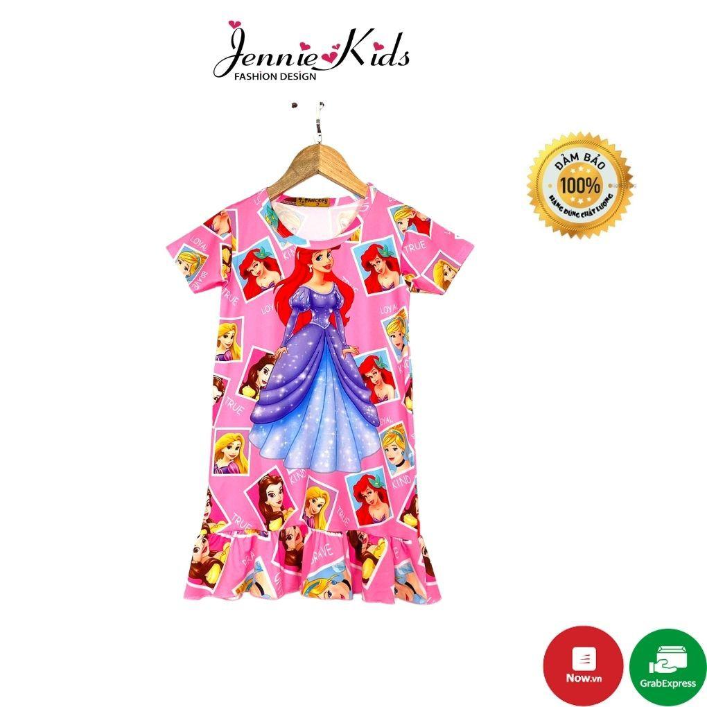 Váy bé gái,đầm bé gái size nhỡ 16-32kg,vải 3D cotton Jennie kids J405