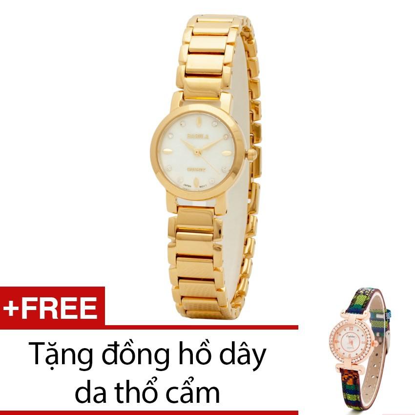 Đồng hồ nữ Babila dây kim loại vàng tặng kèm 1 đồng hồ thổ cẩm - 2394633 , 101039213 , 322_101039213 , 999000 , Dong-ho-nu-Babila-day-kim-loai-vang-tang-kem-1-dong-ho-tho-cam-322_101039213 , shopee.vn , Đồng hồ nữ Babila dây kim loại vàng tặng kèm 1 đồng hồ thổ cẩm