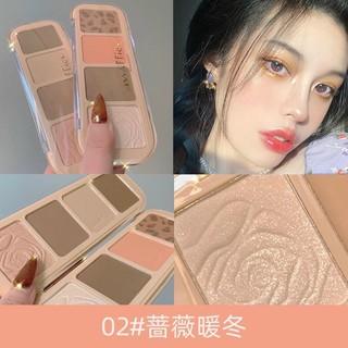 Phấn Tạo khối Bắt Sáng Hoa Hồng 4 ô Maffick Rose thumbnail
