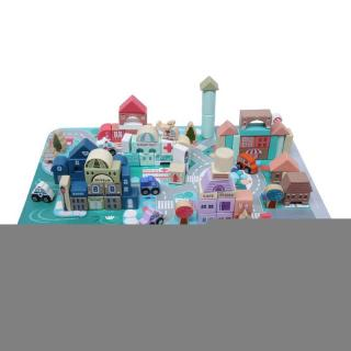 Havashop 115Pcs Child Kid Early Educational Wooden Interesting Building Block Intelligent Toy