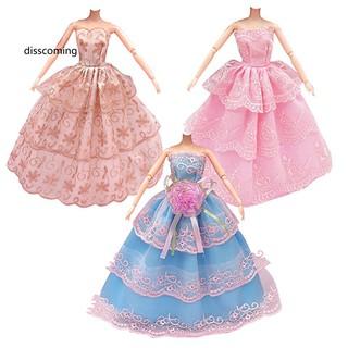 Bộ 3 bộ đầm cưới dự tiệc thiết kế xinh xắn cho búp bê thumbnail