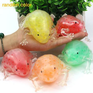 Cute Beads Sticky Frogs Squeeze Toy Squishy Stress Relief Kids Gift