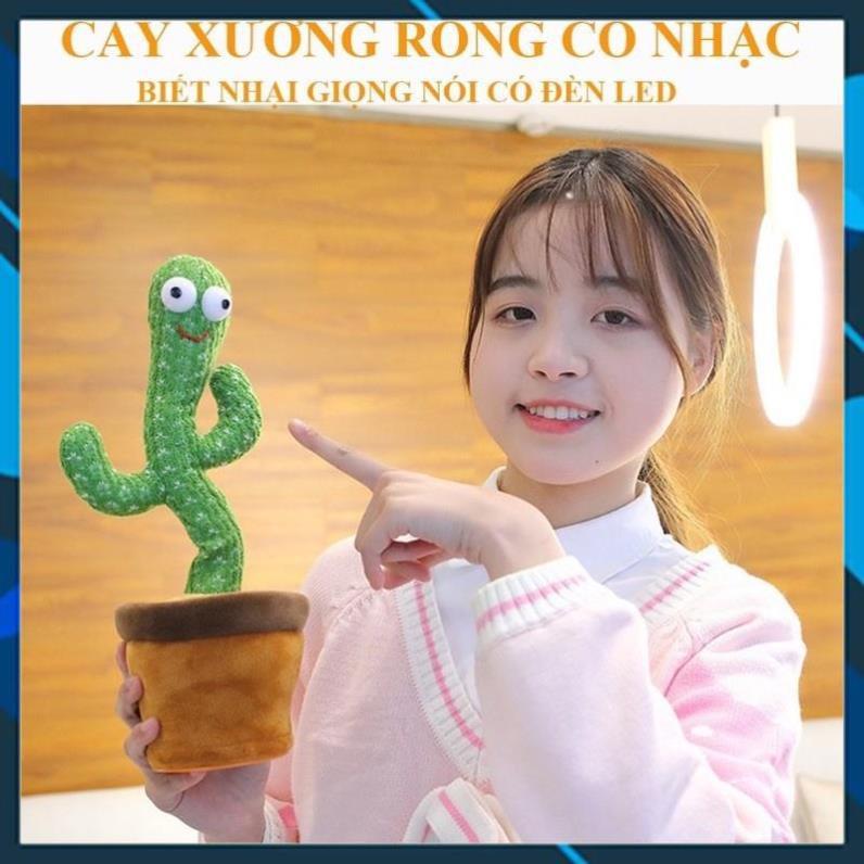 [Sẵn Hàng Giao Ngay] cây sương rồng nhảy múa với 120 bài hát TikTok siêu cute