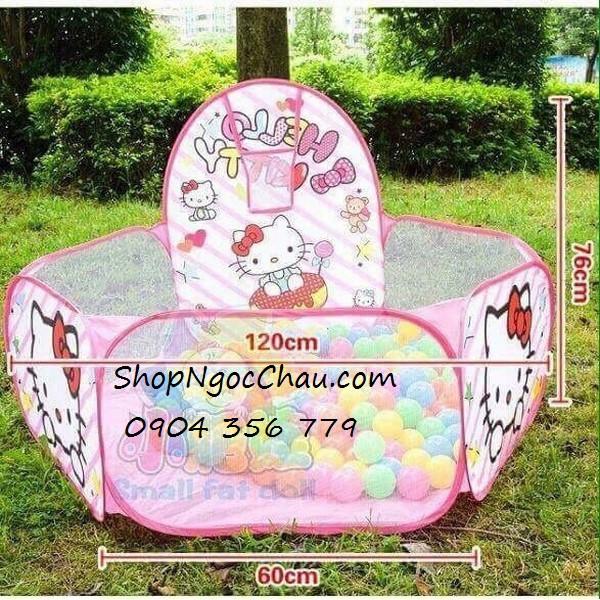 Lều bóng rổ tự bung Hello Kitty cho bé