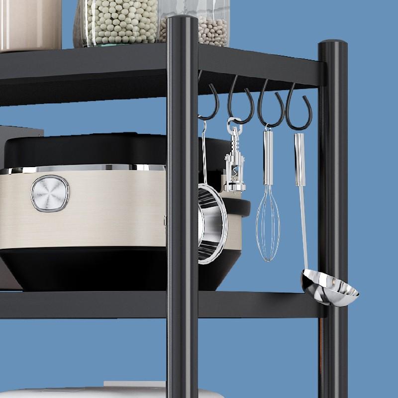 Kệ nhà bếp đa năng để gọn đồ, lò vi sóng khung thép đen có 5 kích thước lựa chọn