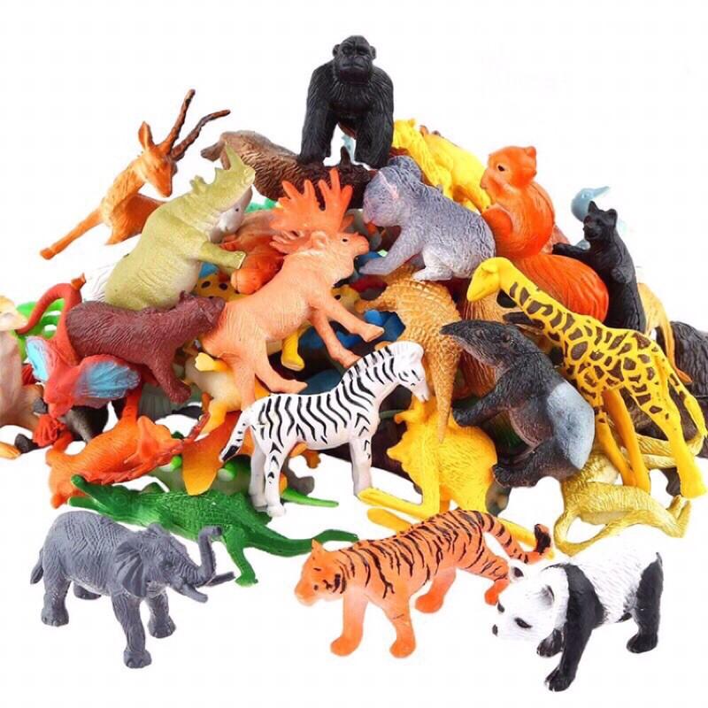 Đồ chơi mô phỏng các con vật con thú bằng nhựa cao cấp cho bé tìm hiểu thế giới xung quanh động vật rừng vật nuôi