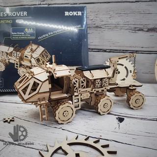 Mô hình lắp ghép gỗ ROKR – Xe thám hiểm năng lượng mặt trời Hermes Rover