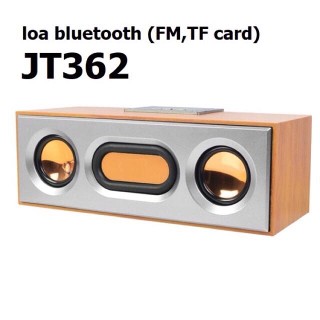 Loa Bluetooth gỗ JT362 Công nghệ Hifi âm Bass mạnh mẽ