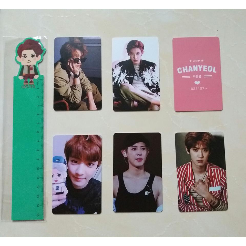 Set 5 card cứng ChanYeol