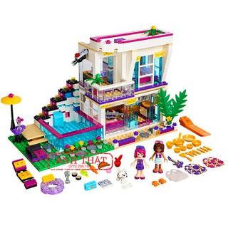 Lego Friends Lepin 01046 / TENMA 3013. 644pcs. Bộ Lego Xếp Hình Biệt Của Ca Sĩ