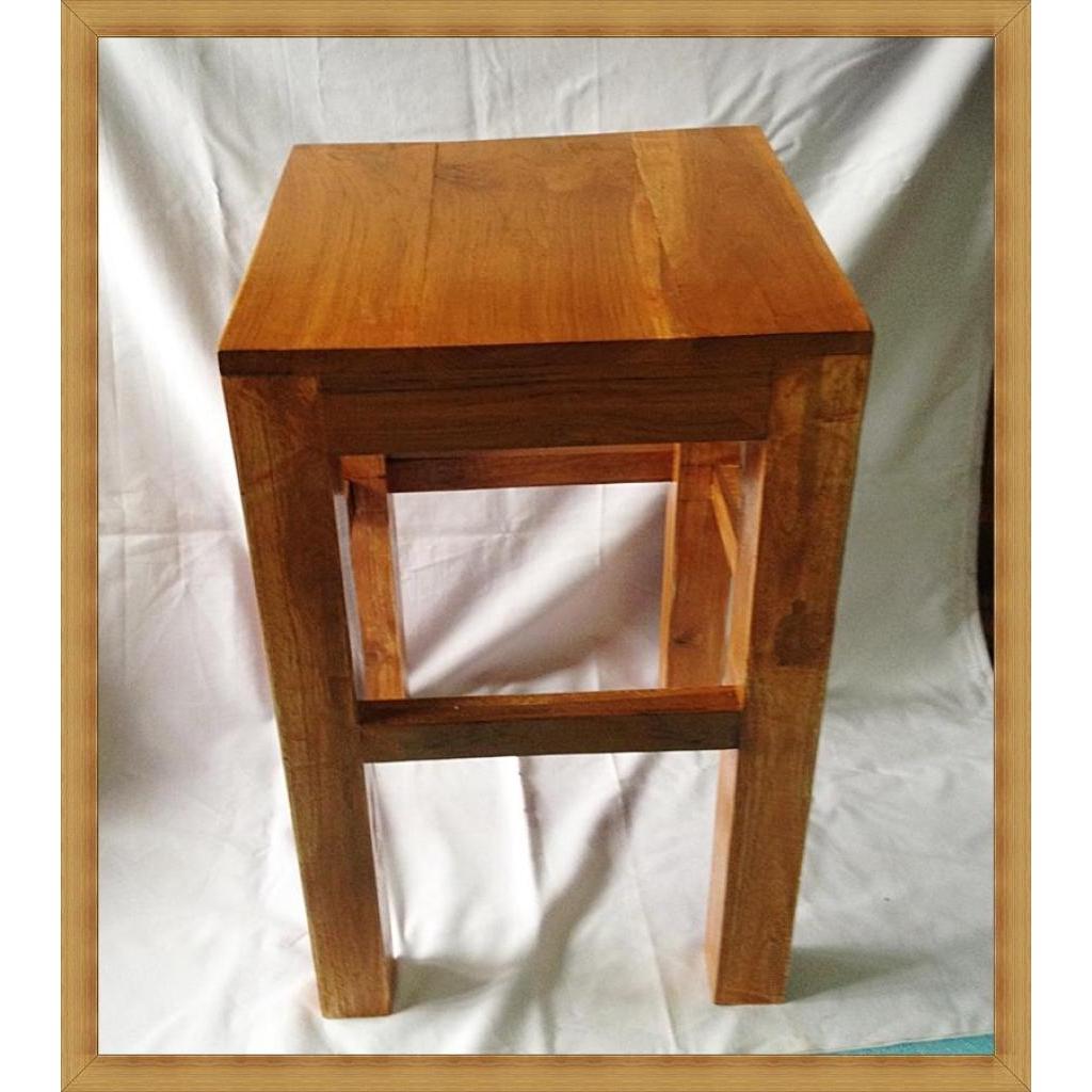 เฟอร์นิเจอร์ เก้าอี้ เก้าอี้ไม้ เก้าอี้สนาม เก้าอี้ปิกนิก เก้าอี้พกพา ไม้สักทอง ขนาด 30*30*51 ซม. (บิ๊กไซร์)ฟอร์นิเจอร์