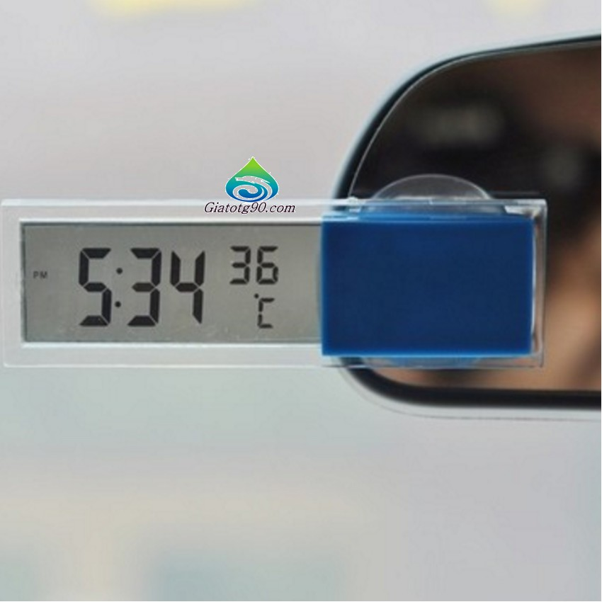 Đồng Hồ, nhiệt Kế Gắn Ô Tô 6258 + Tặng 1 bộ 4 miếng dán tay nắm cửa xe M 239.