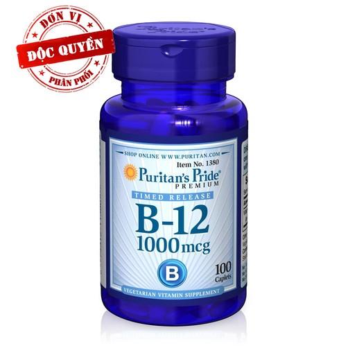 Bổ máu, ngừa chóng mặt, tăng trí não B12 1000mcg