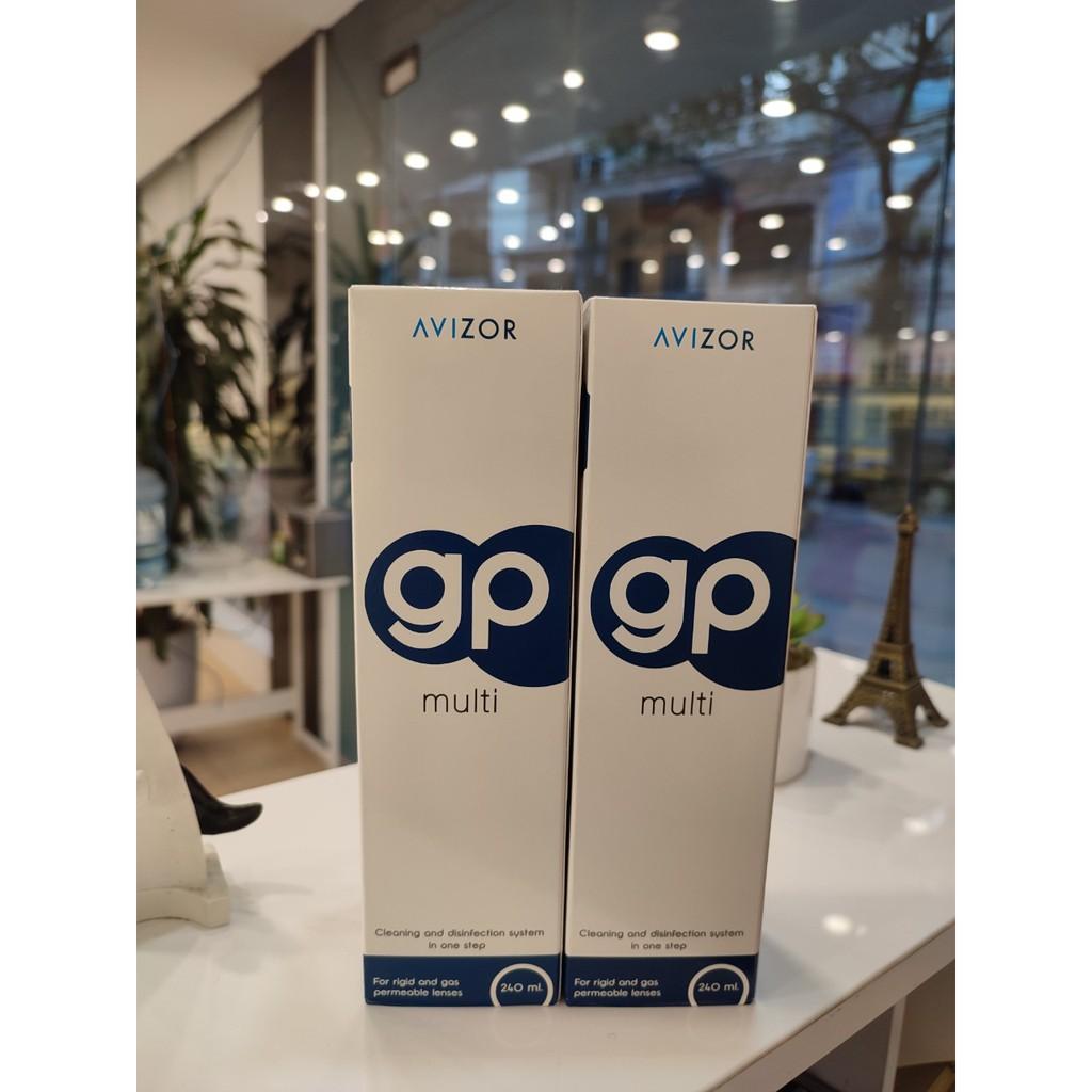 (Tặng cây gỡ or cốc rửa) Avizor GP Multi 240ml-Dung dịch ngâm rửa kính áp tròng cứng ortho k