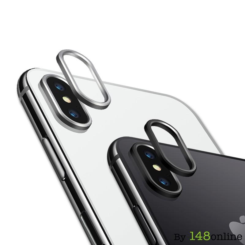 Viền bảo vệ camera sau cho IPhone X + Nút bảo vệ Sạc + Bảo vệ đầu cáp sạc