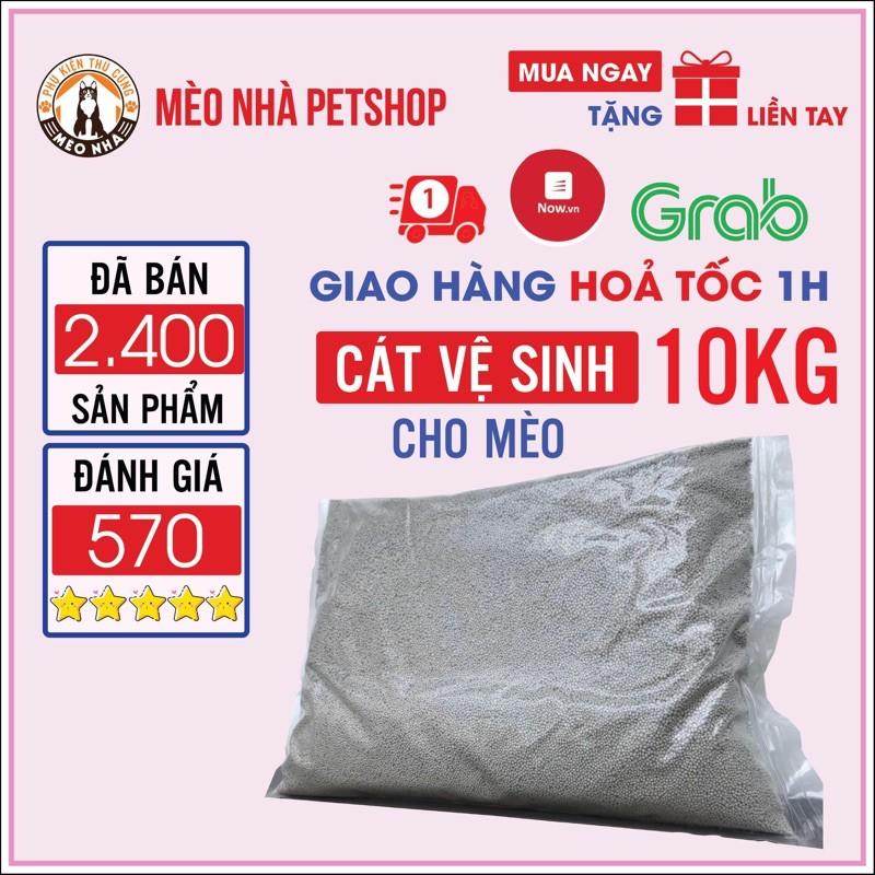[Giao Nhanh HCM] Cát vệ sinh cho Mèo 10 kg 60k hàng việt nam 100% có thể dùng lót chuồng cho thỏ , hamster
