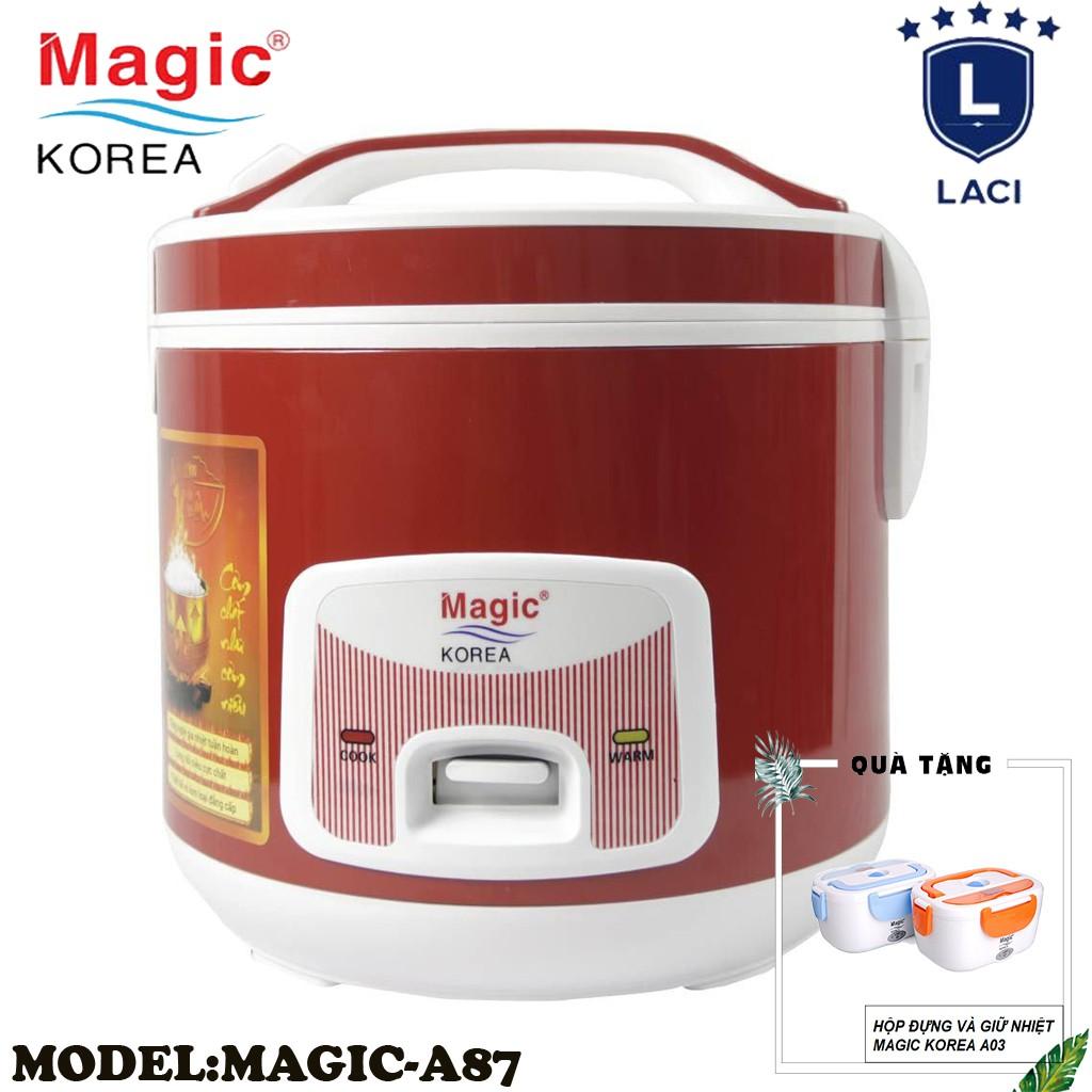 Nồi cơm điện lòng niêu Magic Korea A87 | Dung Tích 2L | Công Suất 700W | Tặng Hộp Cơm Magic A03