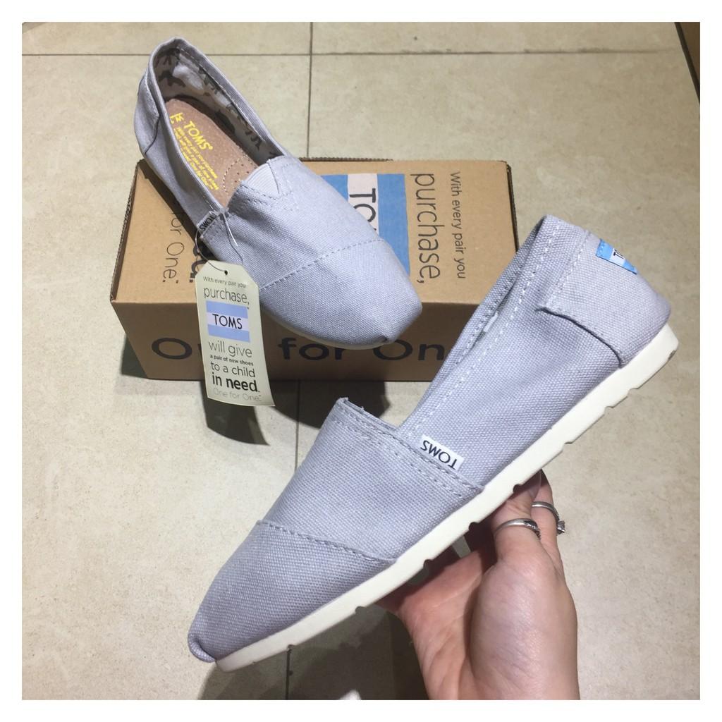 [HÀNG CÓ SẴN]Giày TOMS NAM vải đế cao su thời trang_L1