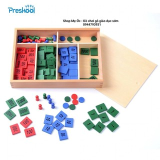 Trò chơi tem số – Giáo cụ Montessori