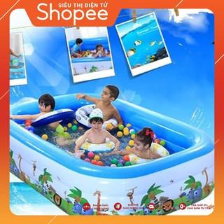 Bể bơi phao 3 tầng cho bé sz lớn 180x140x60cm tặng bơm điện   GIÁ CỰC SỐC