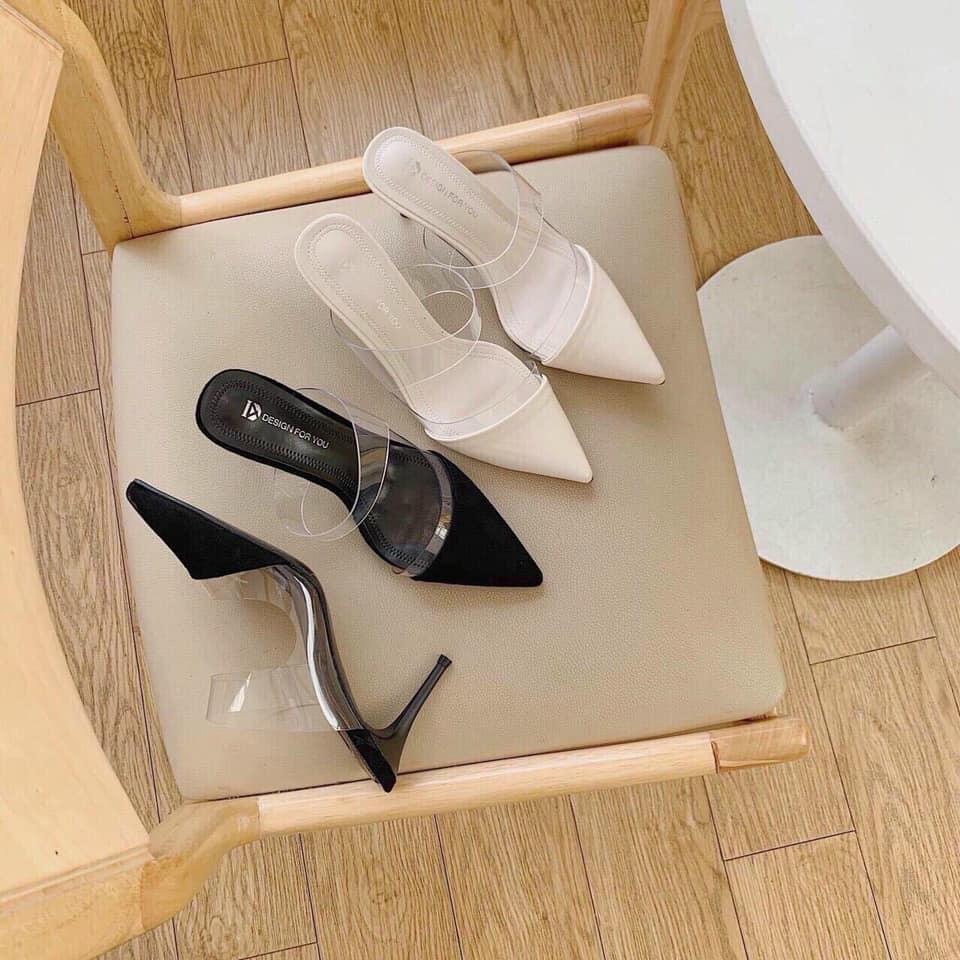 Giày Nữ Bít Mũi Gót Nhọn Cao RF cg-0437