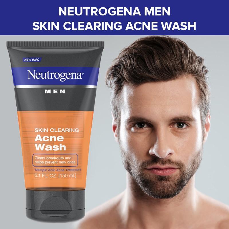 Sữa Rửa Mặt Cho Nam Neutrogena Men Skin Clearing Acne Wash (150ml) | Shopee  Việt Nam