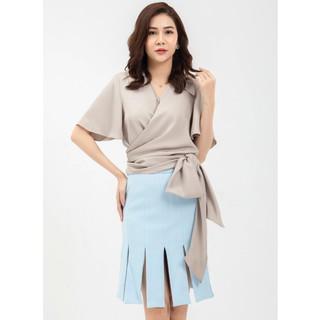 Chân váy xanh xẻ thiết kế Elise thumbnail
