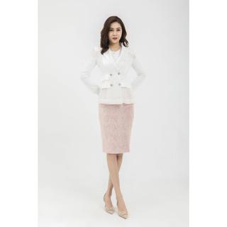 Áo vest trắng lưới thiết kế Elise thumbnail