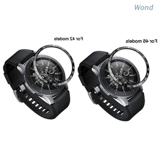 Wond Stainless Steel Metal Bezel Ring Adhesive Cover Replacement For Samsung Galaxy Watch 46MM/42MM Case For Gear S3 Frontier/Classic Sport Band Strap Accessories