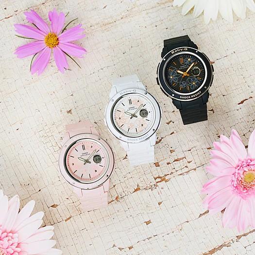 Đồng hồ dây nhựa Casio Baby-G Nữ BGA-150FL-7A chính hãng bảo hành 5 năm Pin trọn đời