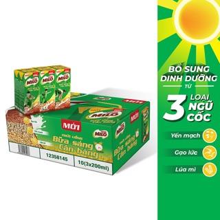 Thùng 30 hộp Milo bữa sáng 195ml (date T04/2020)