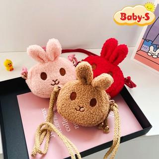 Túi thỏ bông đeo chéo đáng yêu đủ màu sắc tươi tắn cho bé yêu diện đi chơi Tết lung linh Baby-S STX038 thumbnail
