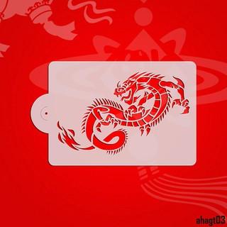 (hàng Có Sẵn) Khuôn Tô Màu Hình Rồng Trung Hoa