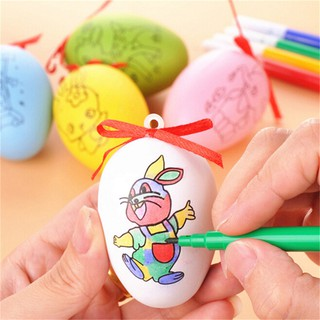 HEL❤ Kids DIY Painting Drawing Water Coloring Eggs Easter Egg Education T