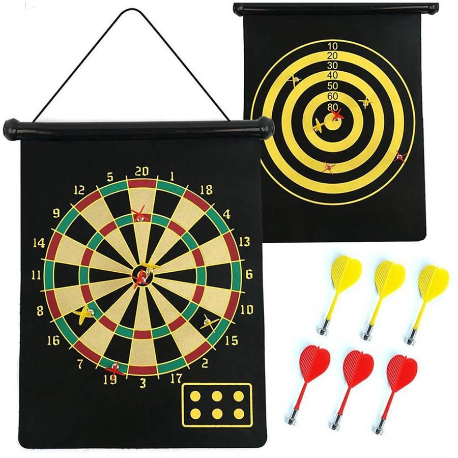 Đồ chơi phi tiêu nam châm 2 mặt(loại to+6 tiêu)