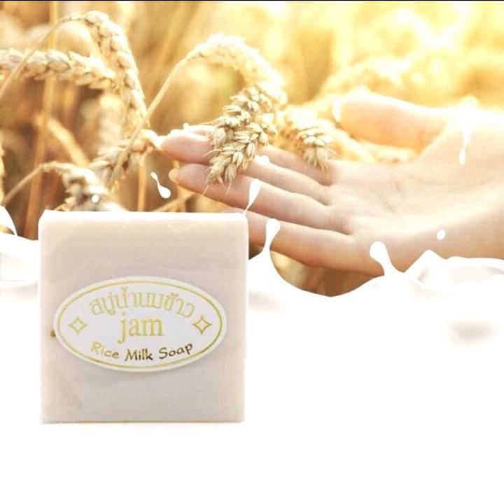 Xà Phòng Cám Gạo Trắng Da Thái Lan Jam Rice Milk Soap