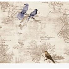 Decal giấy dán tường chim thư pháp