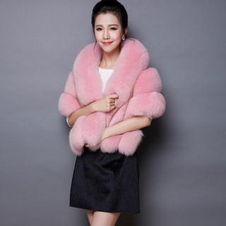 BPONLINE Women Soft Fur Plush Bridal Shawl Cape Jacket Wrap Shrug Bolero