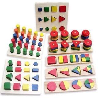 Giáo cụ Montessori – bộ 8 bảng nhỏ