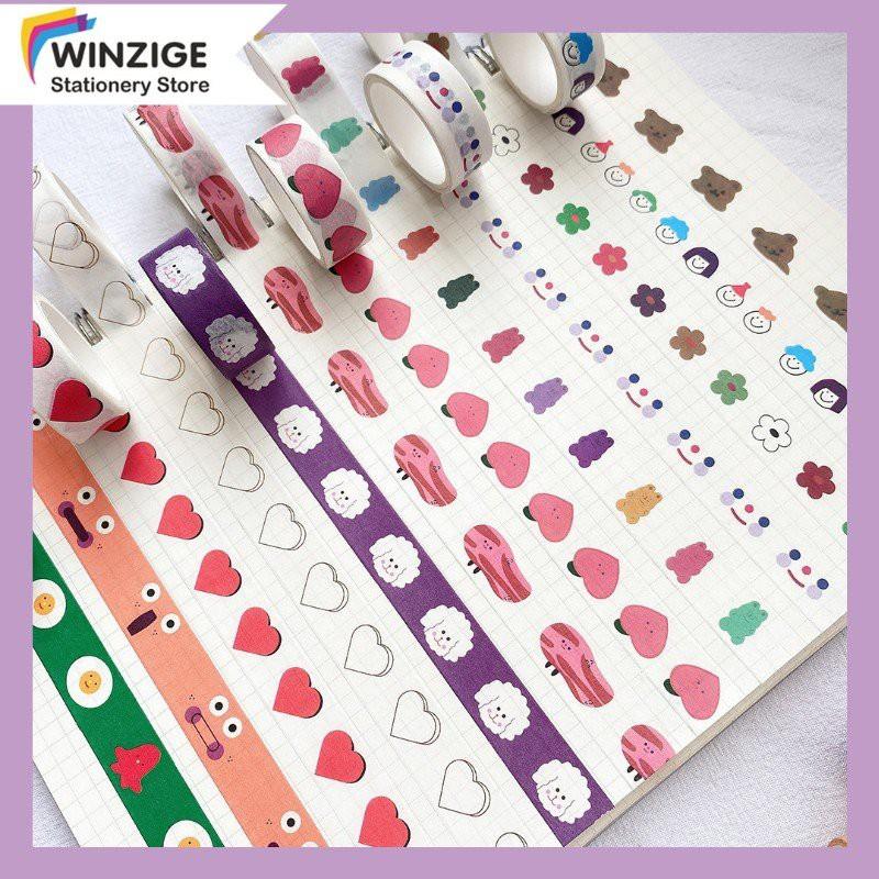 Winzige Cuộn băng dính washi in họa tiết đáng yêu trang trí sổ tay