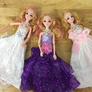 [Có sỉ] Đồ chơi búp bê tiểu thư công chúa nhiều khớp tóc nhuộm loại xịn dành cho bé trai, bé gái