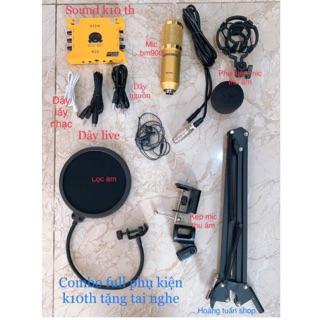[Freeship toàn quốc từ 50k] Combo bộ thu âm BM900,Karaoke,soundcard XOX K10 full phụ kiện