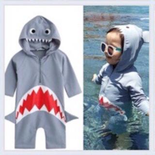 Bộ đồ bơi cá mập cho bé trai, bé gái size 5,6,7 tuổi