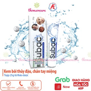 Kem Su bạc - Subac chứa nano bạc và thảo dược, cho bé bị thủy đậu, chân tay miệng thumbnail