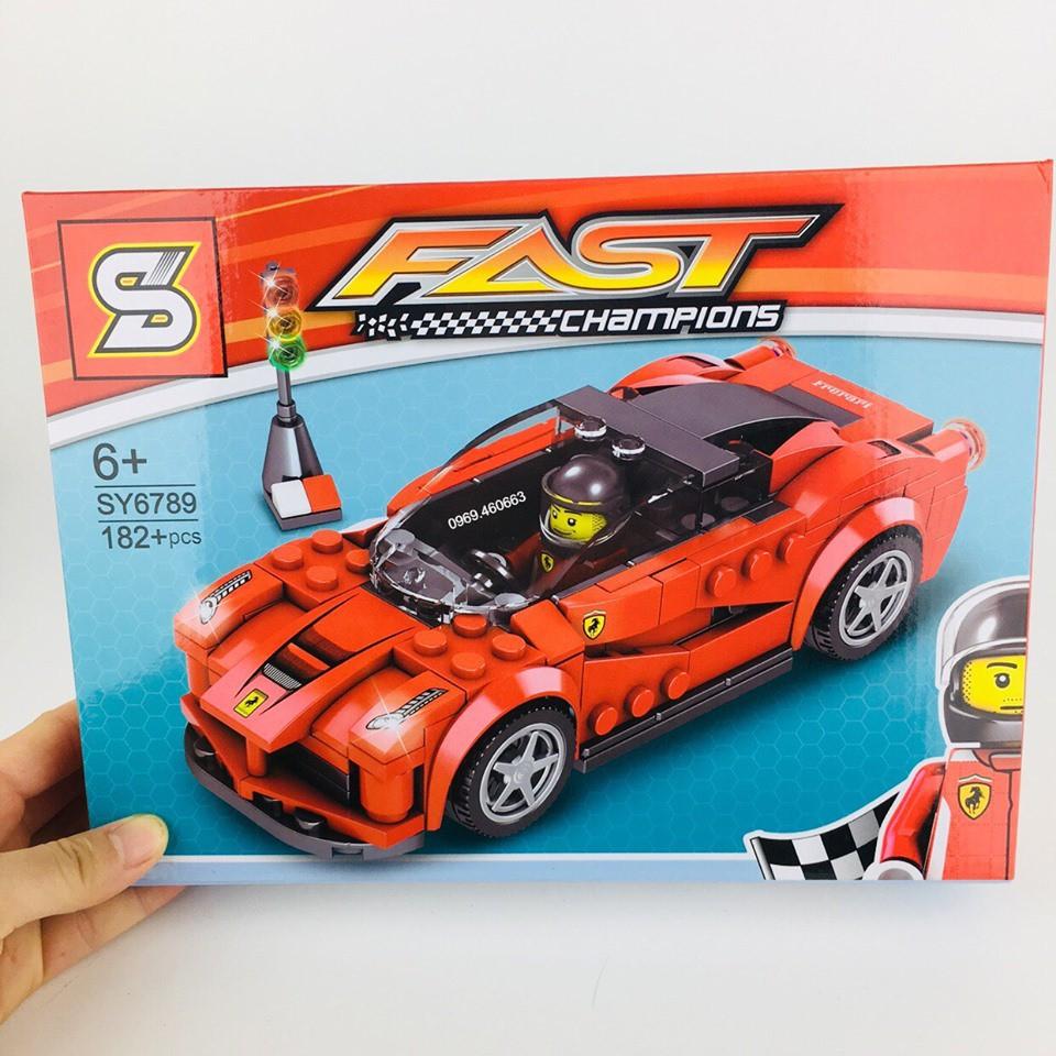 Xếp Hình Lego Ninjago Siêu Xe Đua Cao Cấp. Lego Lắp Ráp Siêu Xe Màu Đỏ cho bé trai