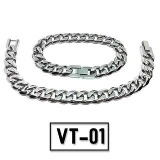 Vòng tay TITAN dây xích bạc – Mẫu VT-01