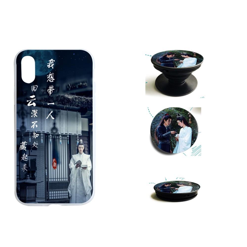 Combo Ốp lưng điện thoại và giá đỡ điện thoại - Ma đạo tổ sư - Trần tình lệnh - Lam Trạm - Ngụy Anh