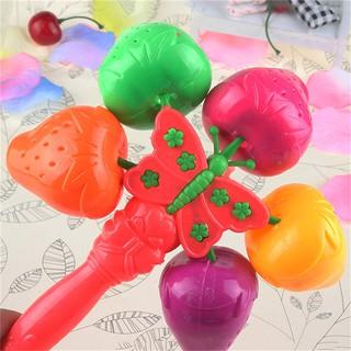 MUL❤ Plastic Kids Rattles Develop Toys Intelligence Hand Bell Rattle Funn
