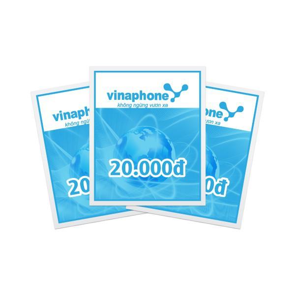 Thẻ nạp mạng Vinaphone mệnh giá 20 - 100k